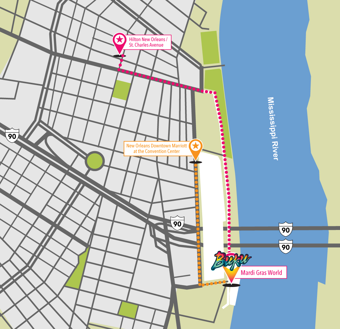Marriott New Orleans Map.Buku Music Art Project 2018 Cid Entertainment