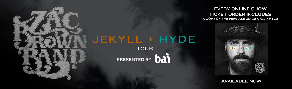 Zac Brown Band JEKYLL + HYDE 2015 Tour