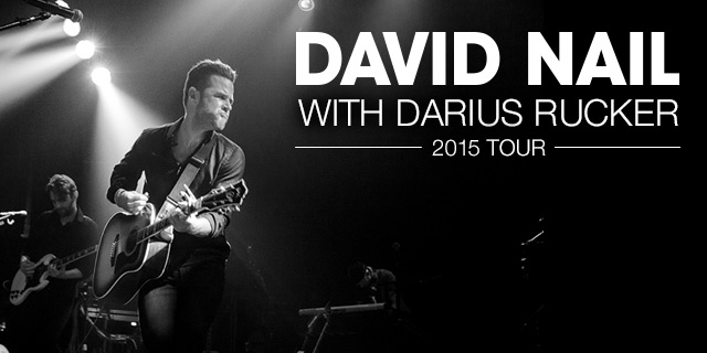 David Nail 2015 Tour Image
