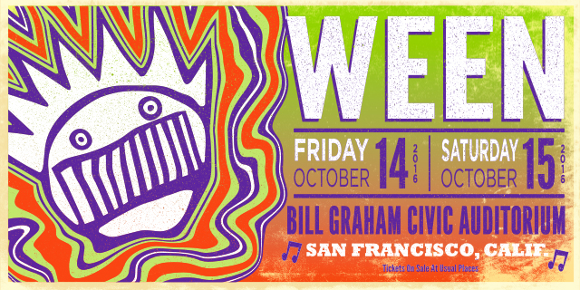 Ween at Bill Graham Civic Auditorium