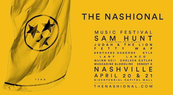 Sam Hunt's The Nashional Festival 2018