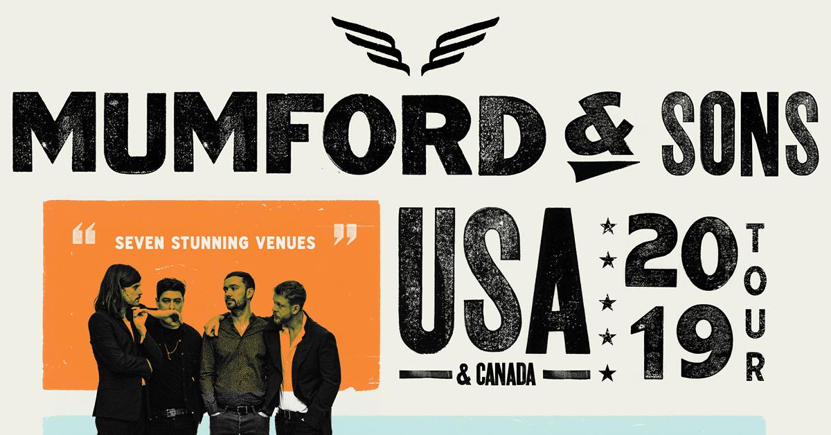 Mumford Amp Sons Summer Tour 2019 Premium Ticket Bundles