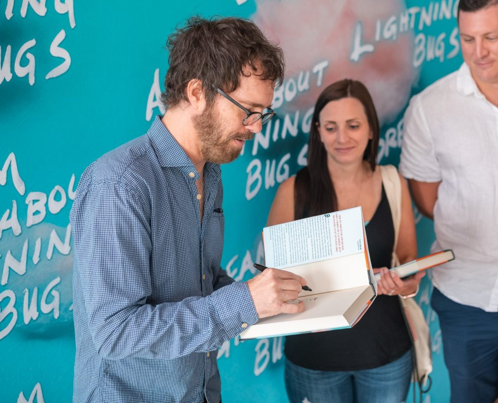 ben folds signing his book