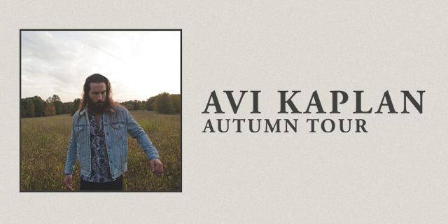 Avi Kaplan Autumn Tour 2020 header