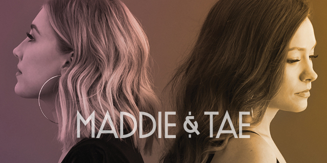 Maddie & Tay Tour 2020 Tour header, standing back to back