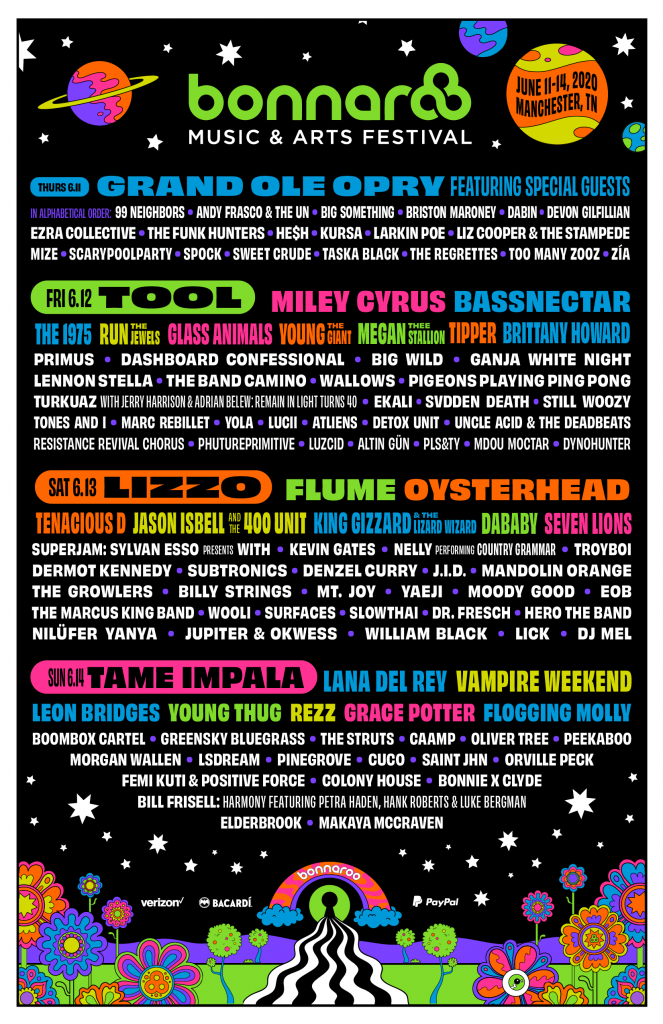 bonnaroo lineup graphic