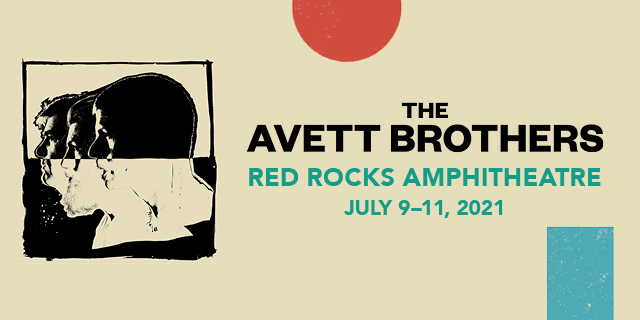 Avett brothers at Red Rocks 2021 header